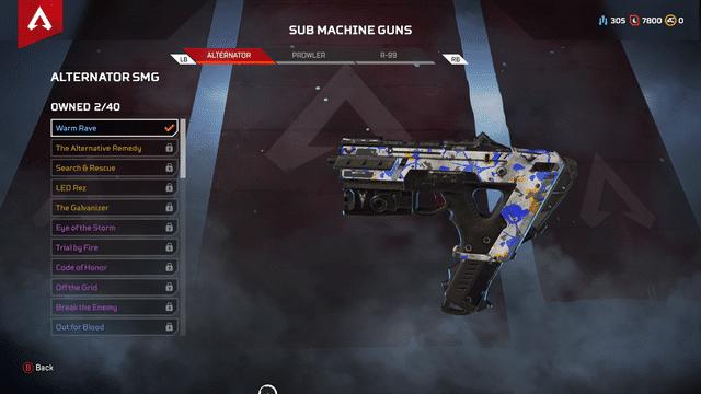 Altenator gun Apex Legends