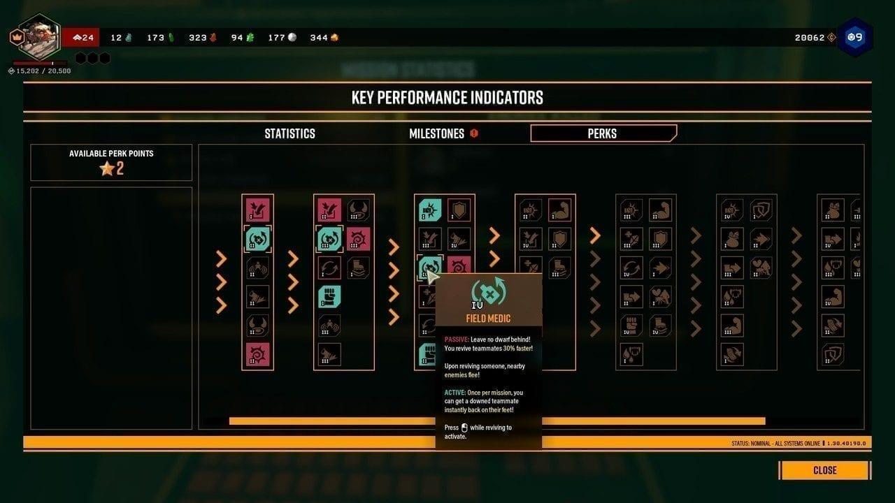 Deep Rock Galactic KPI Terminal