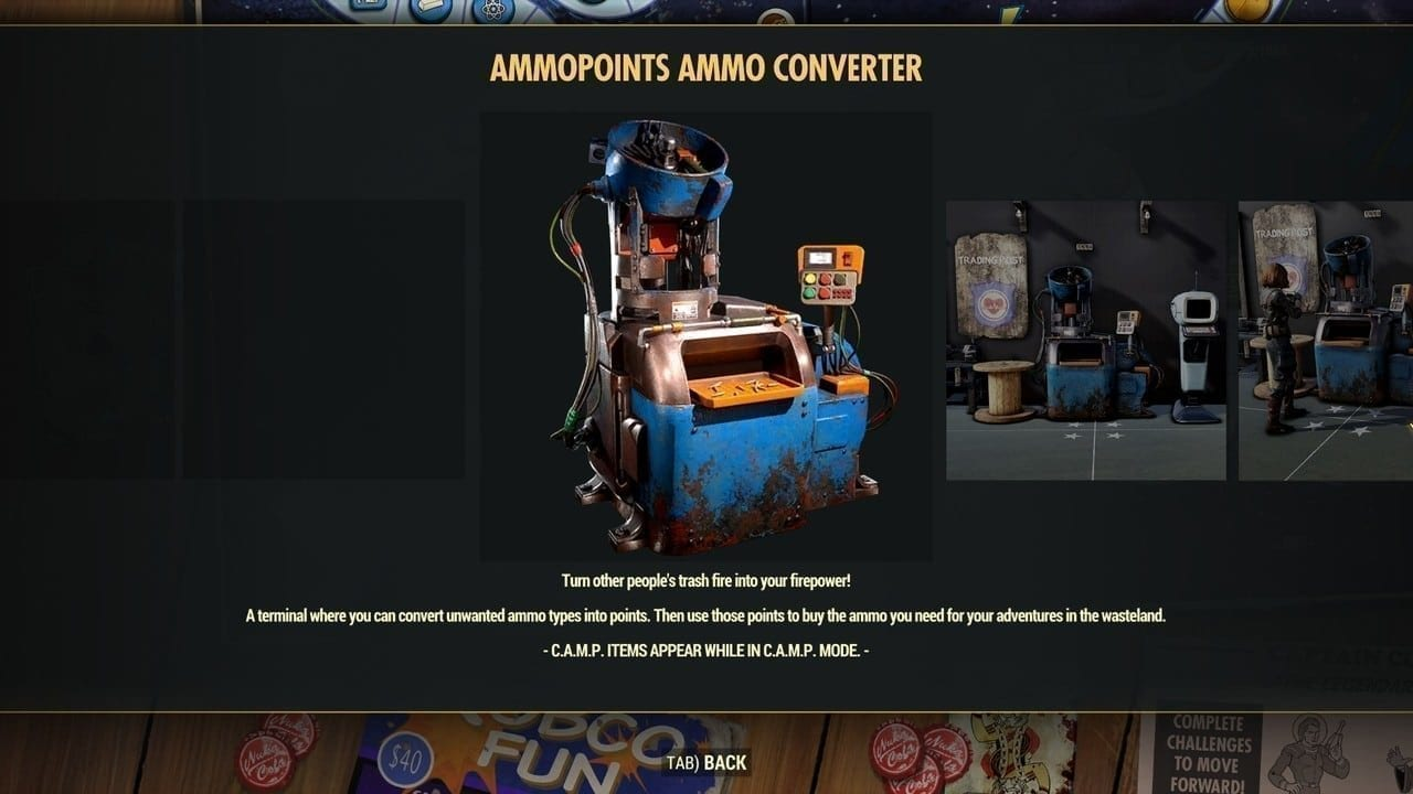 Fallout 76 Ammo Converter