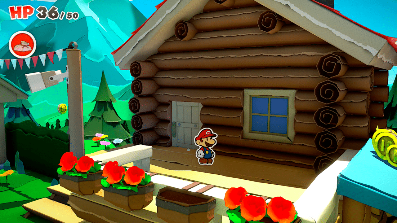 Paper Mario: The Origami King Whispering Woods Cabin