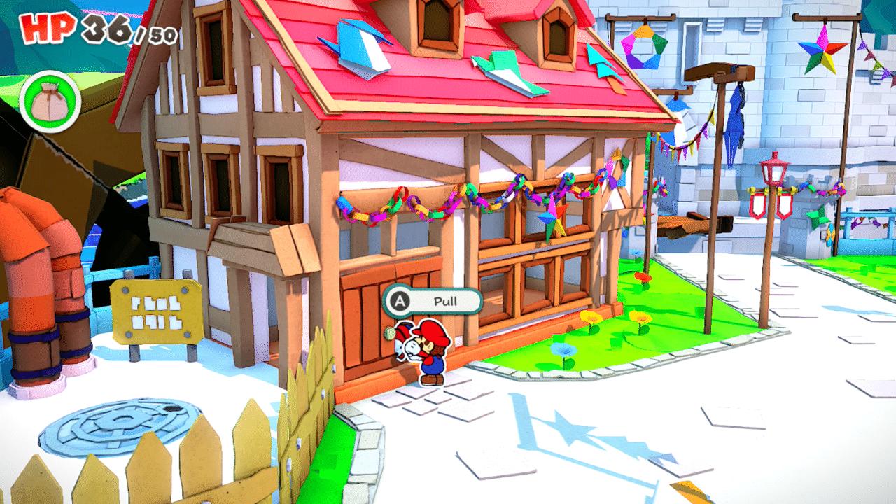 Paper Mario: The Origami King Manhole Hook Location