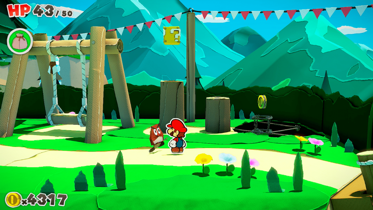 Whispering Woods Question Box Locations Paper Mario: The Origami King