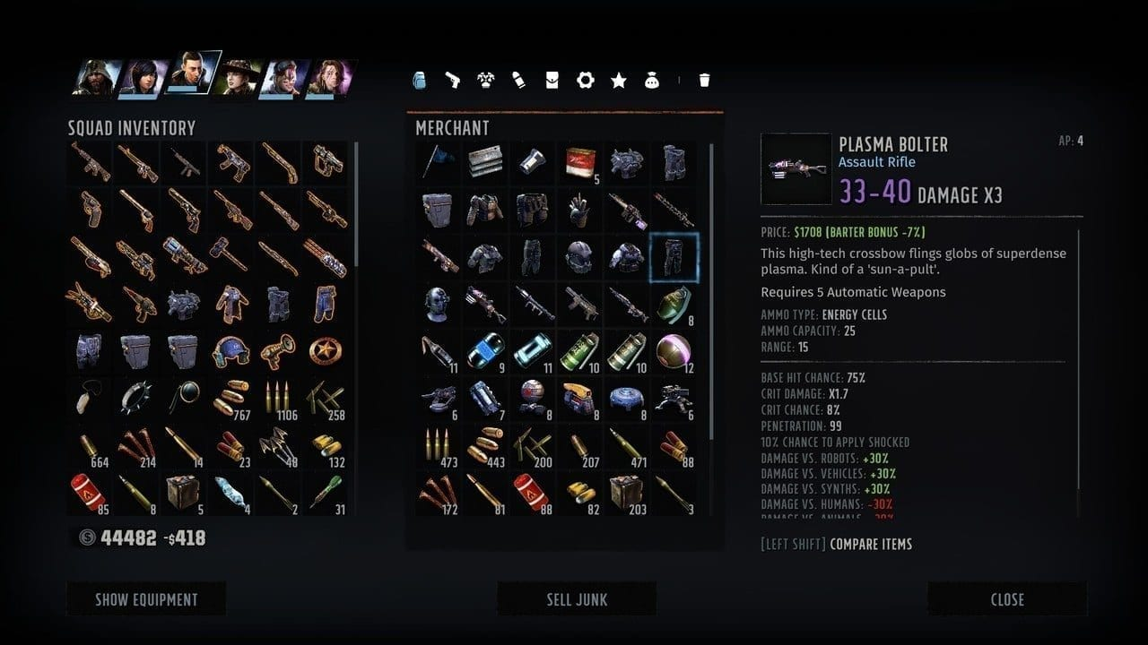 Wasteland 3 Plasma Bolter