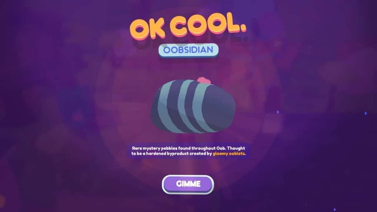 How to get Oobsidian quickly in Ooblets