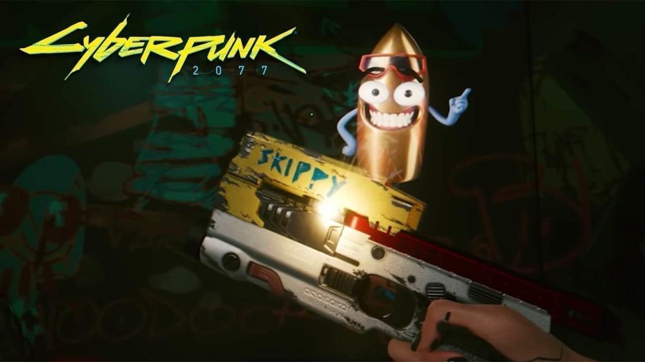 Skippy Cyberpunk 2077, Skippy, Talking Gun Cyberpunk 2077